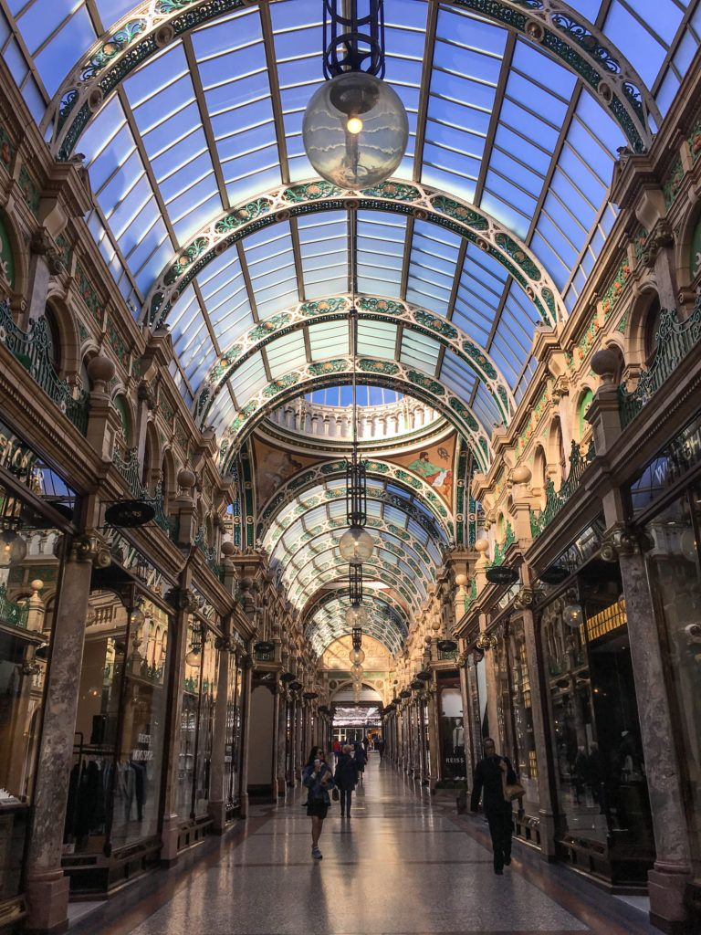 Leeds is the shoppers paradise with arcades and shopping centres at every turn