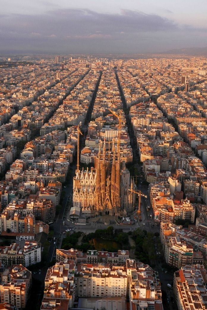 A skyline thats a sight for sore eyes with Barcelonas La Sagrada Famillia taking centre stage