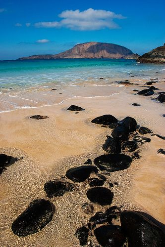 Lanzarote's black rocks add to the out of world feeling you get on the island