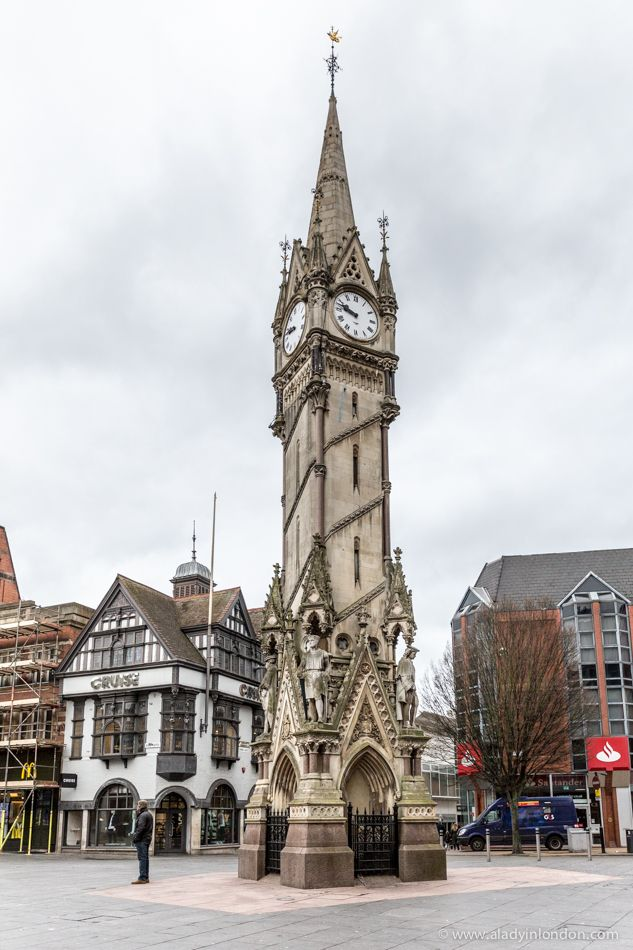 Leicester's Haymarket Memorial Clocktower is a well known landmark