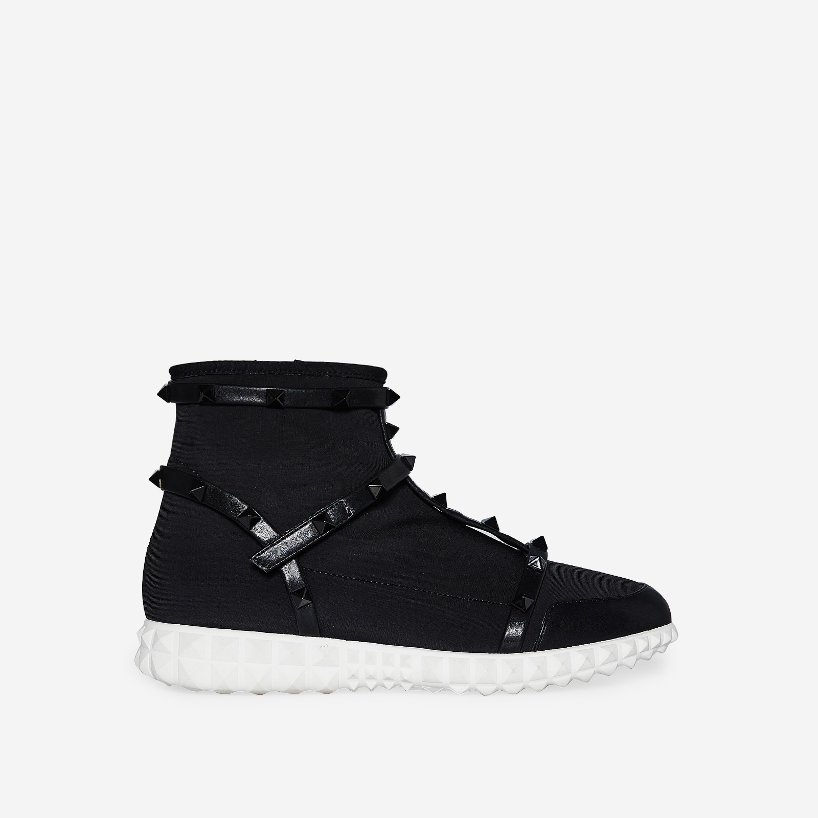 Rocha Studded Detail Trainer In Black Knit