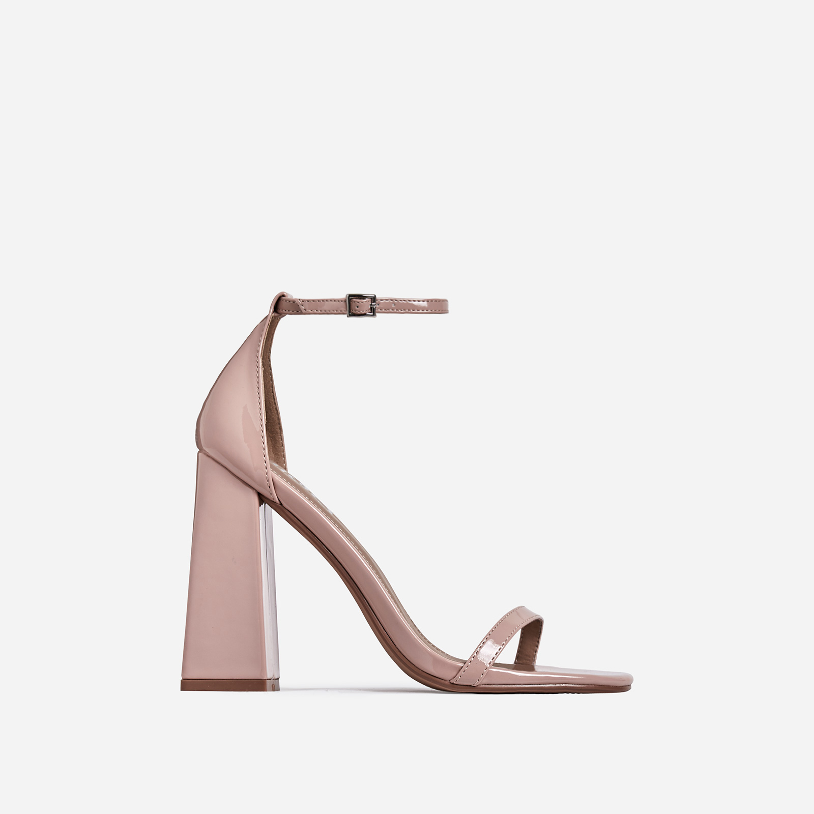 Atomic Square Block Heel In Nude Patent