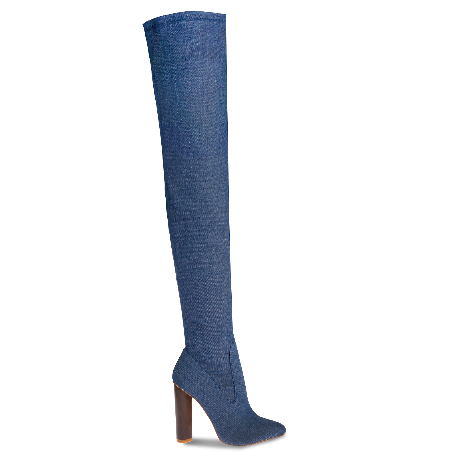 Lily Blue Denim Long Boots