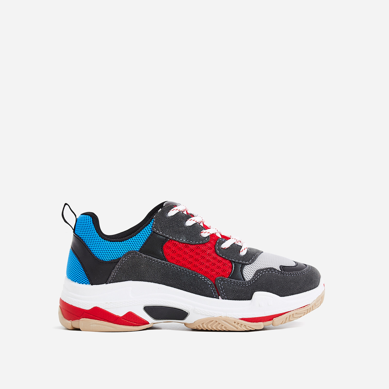 Elijah Chunky Trainer In Red And Blue