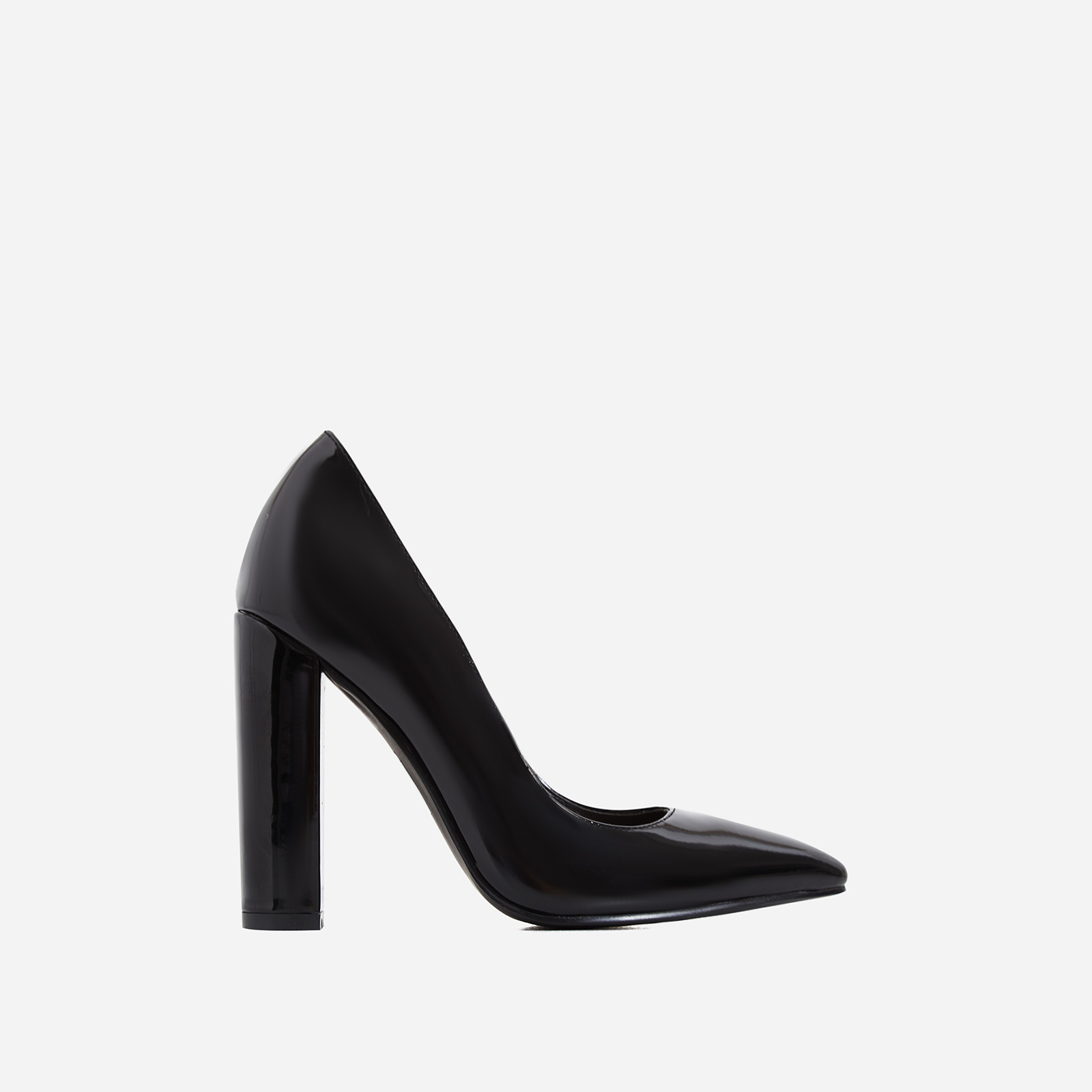 Bobbi Block Court Heel In Black Patent