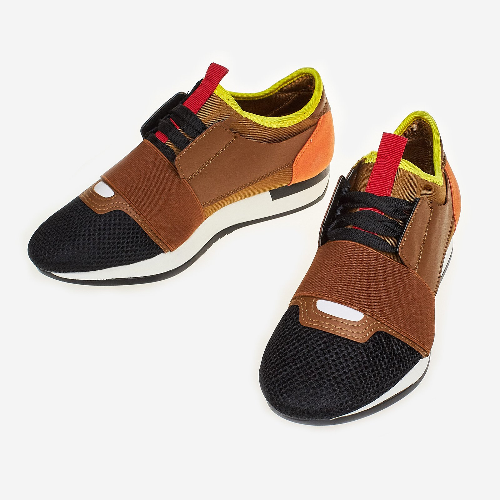 Gabriel Running Trainer In Tan