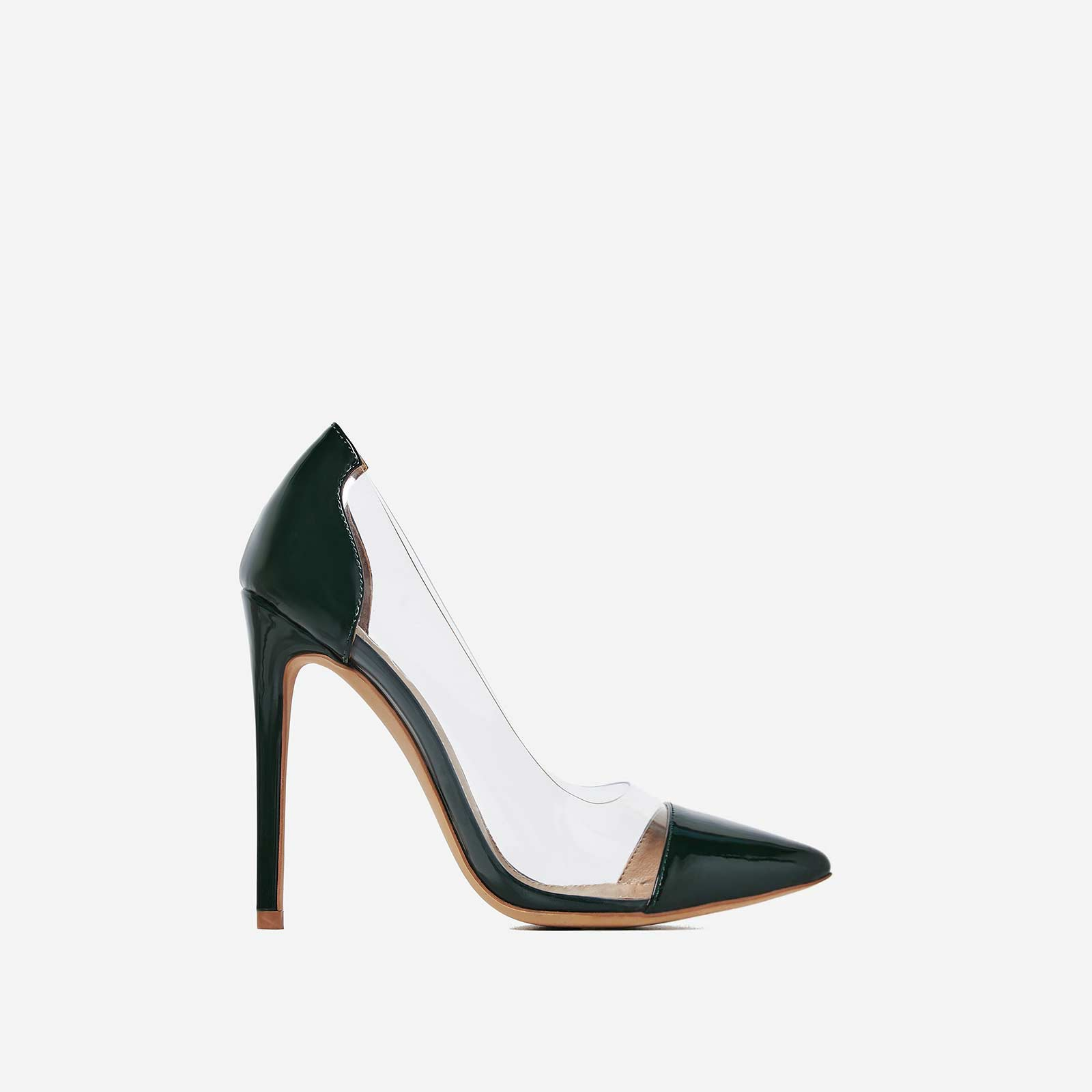 Cici perspex court heel in green patent 500x500 Heels and hotlist