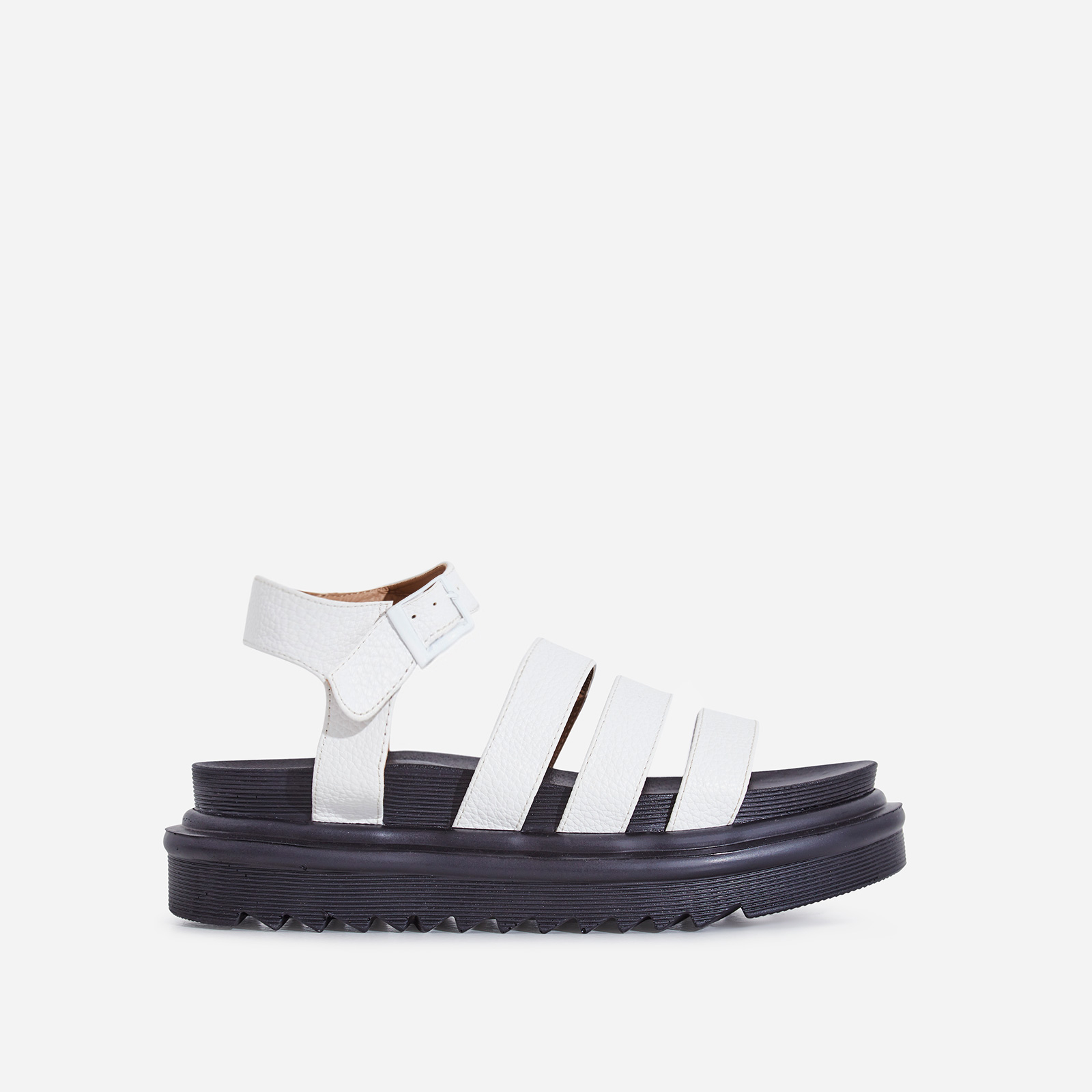 e878d01a7501 Clueless Chunky Sole Sandal In White Faux Leather