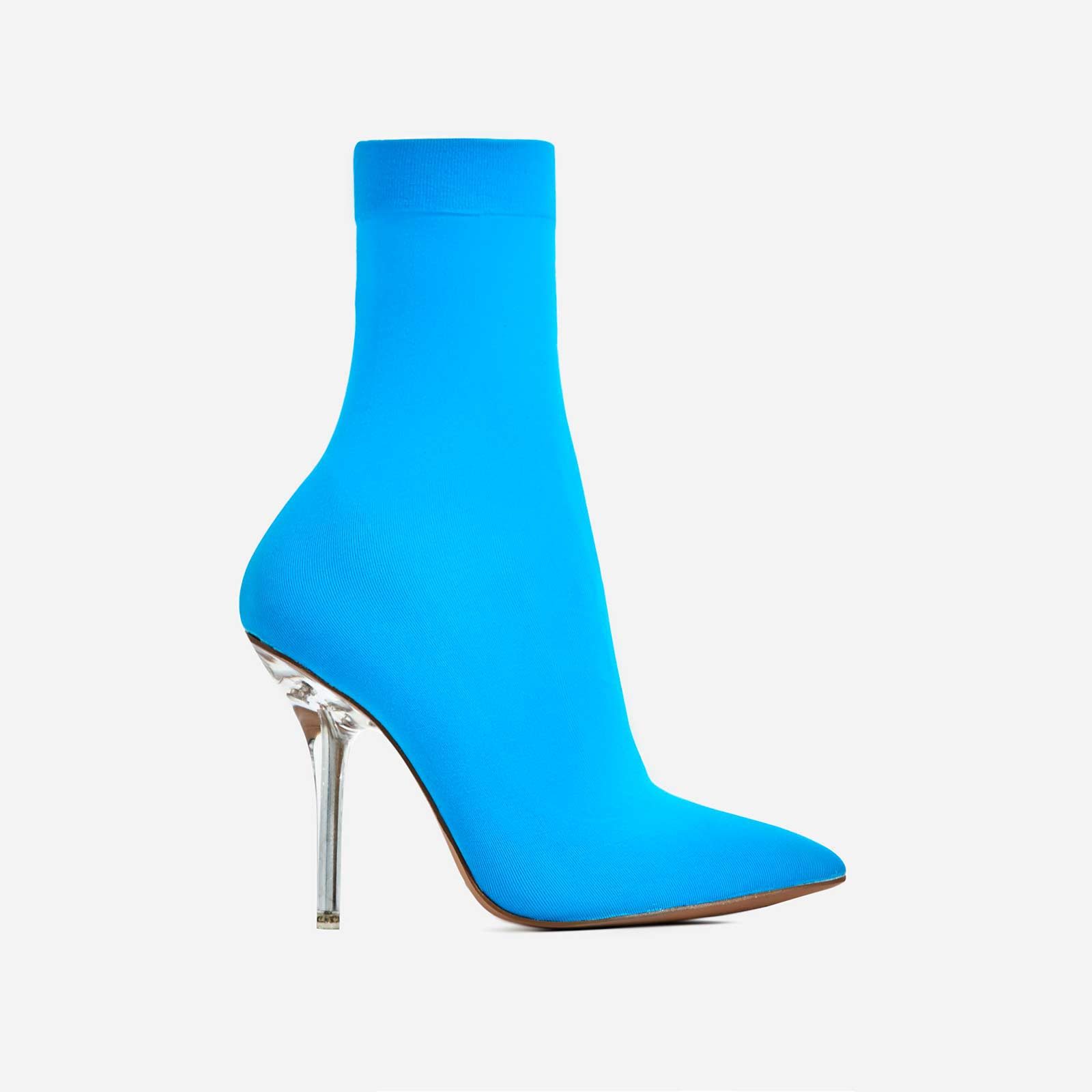 Doll Perspex Ankle Sock Boot In Blue