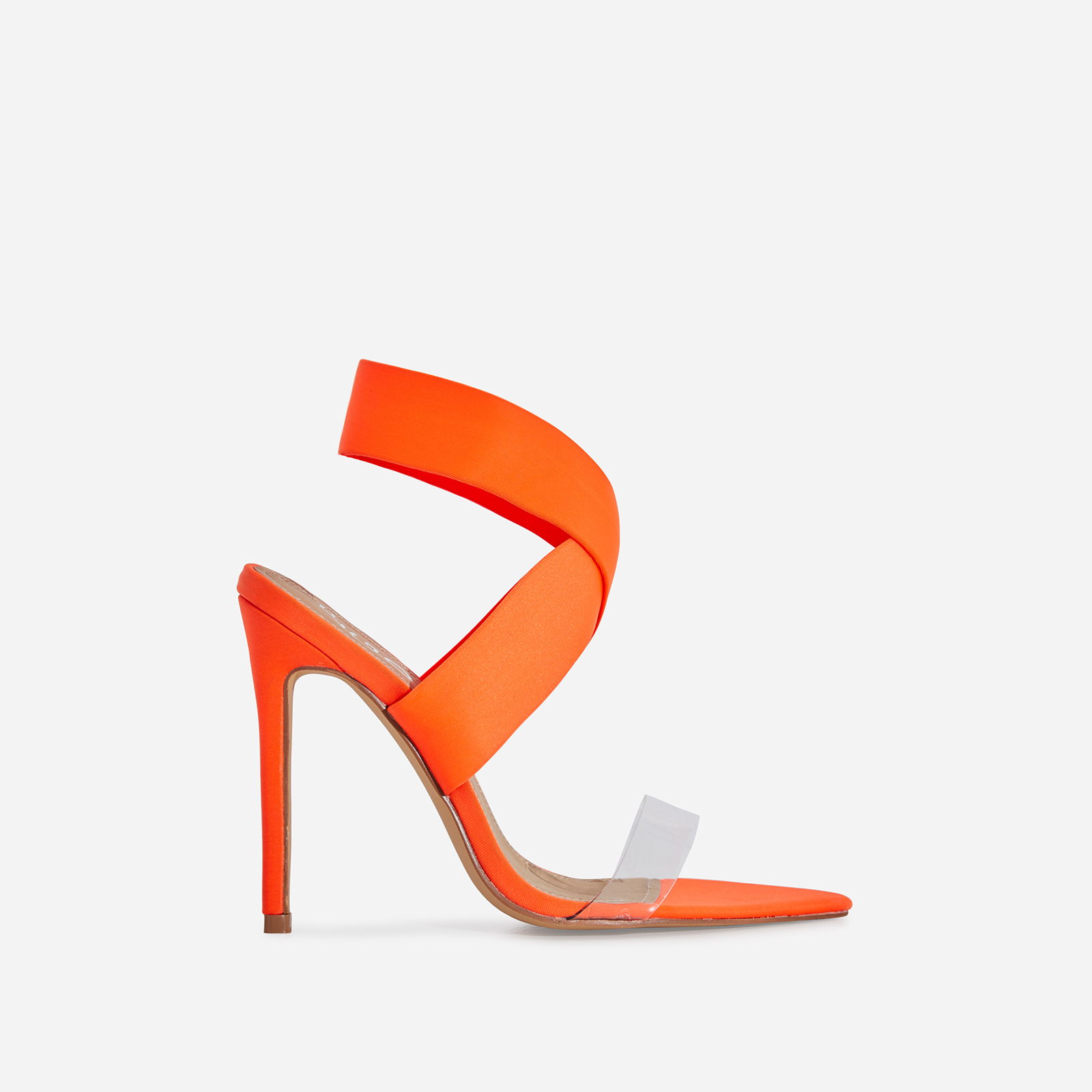 Joma Perspex Detail Heel In Neon Orange Lycra