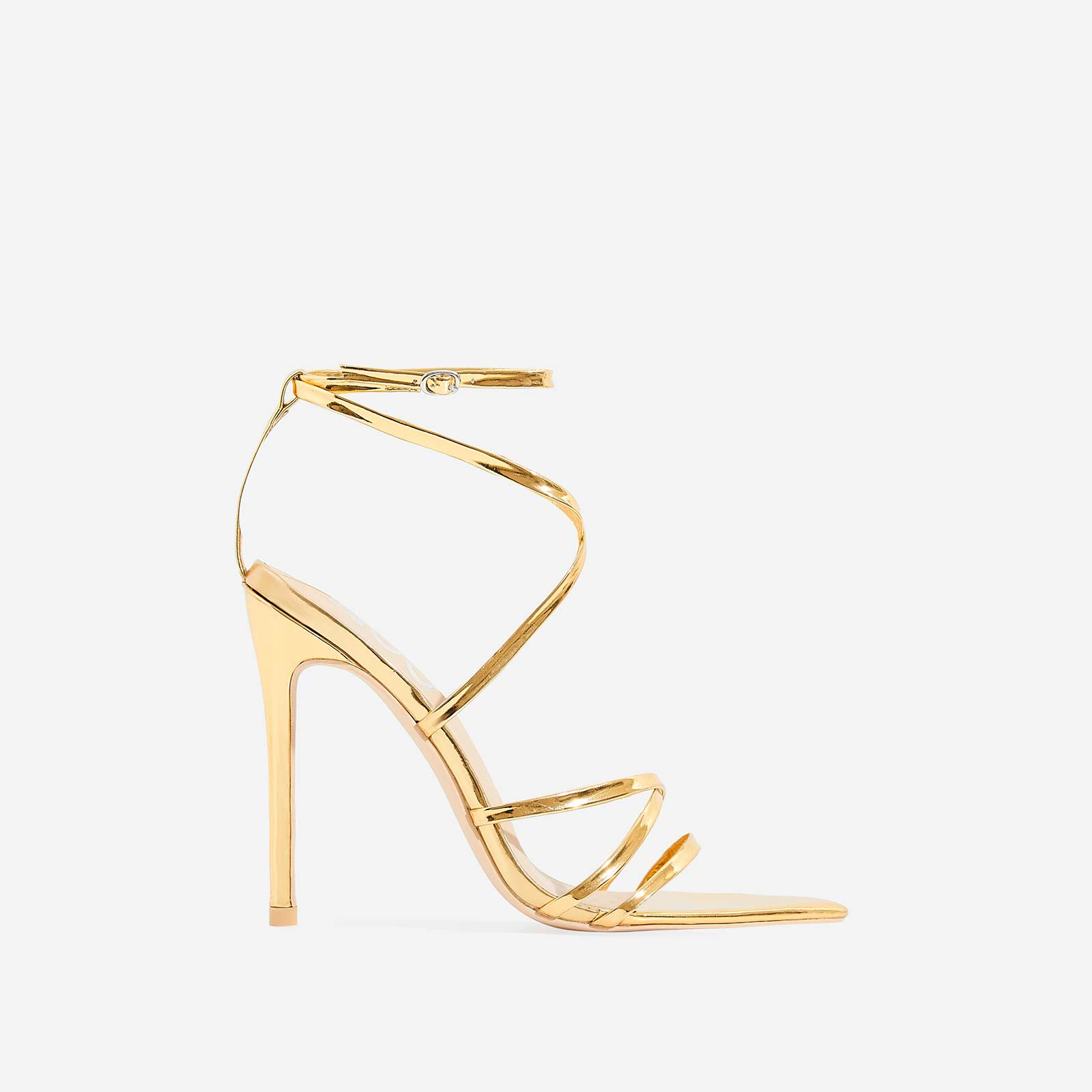 bfbc2d6a93ff Kaia Pointed Barely There Heel In Gold Patent
