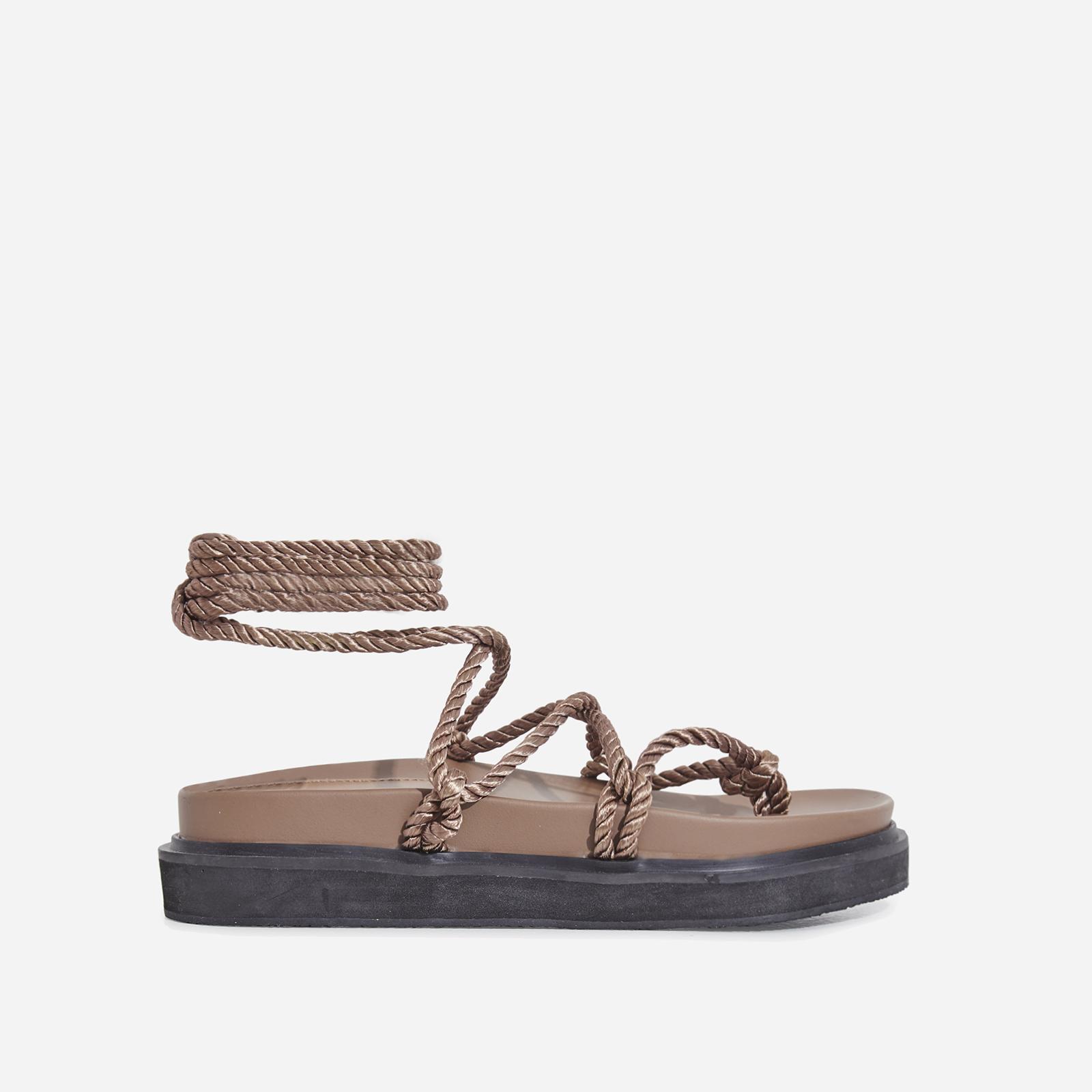 db89e3cd965e Mika Lace Up Rope Espadrille Sandal In Mocha Faux Leather