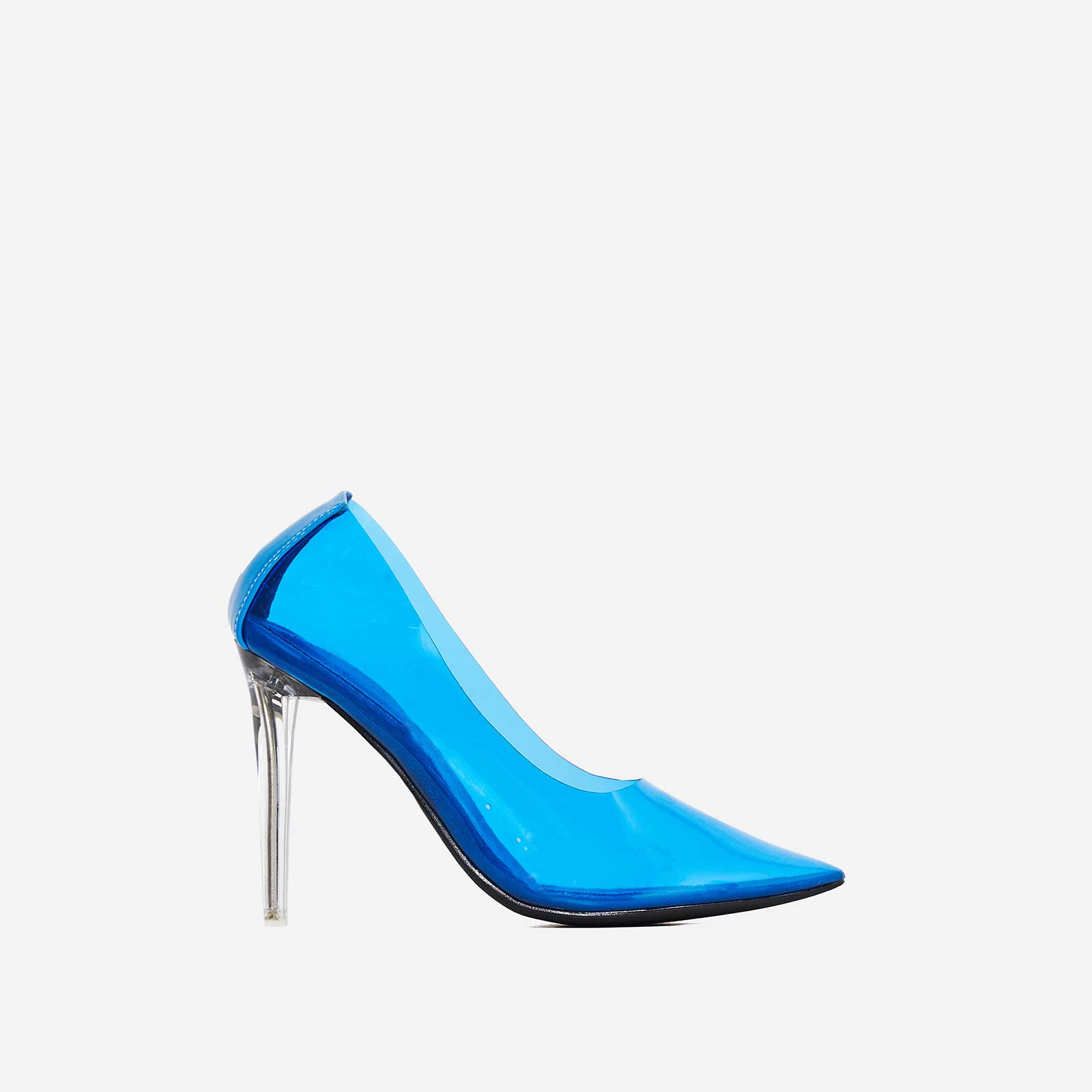 Nuclear Perspex Court Heel In Blue