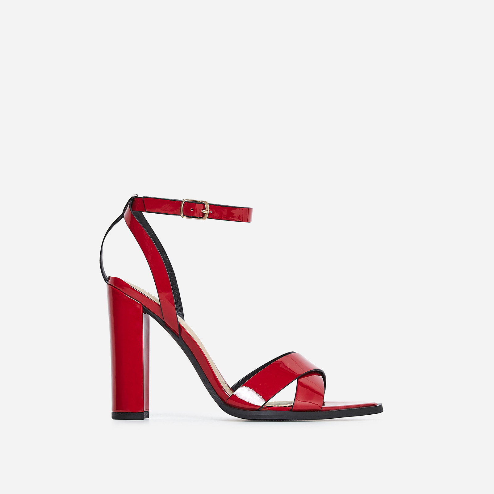 Obsessed Black Heel In Red Patent