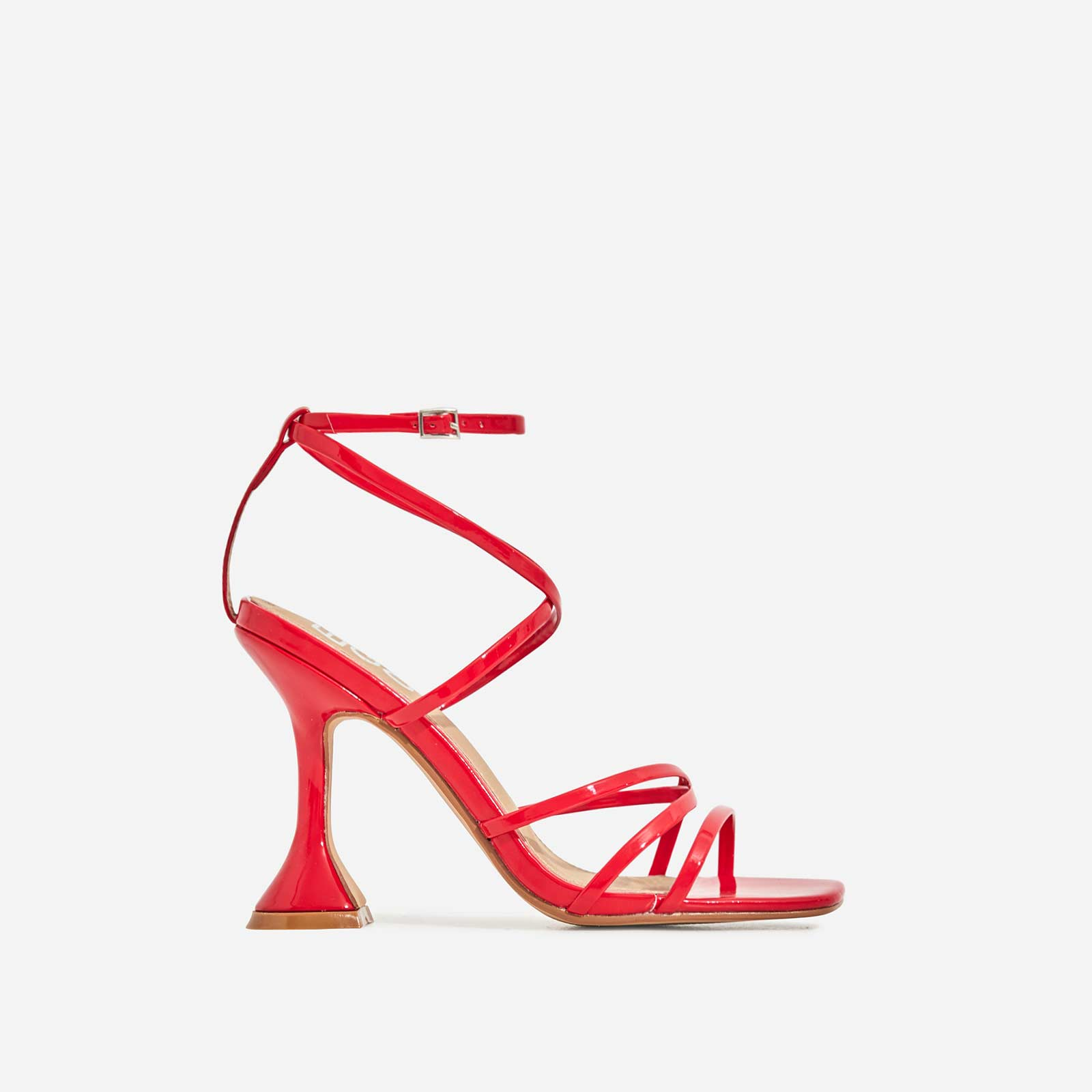 Richie Square Toe Heel In Red Patent