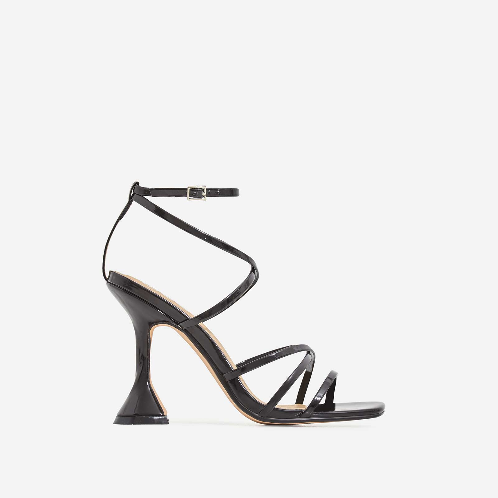 Richie Square Toe Heel In Black Patent