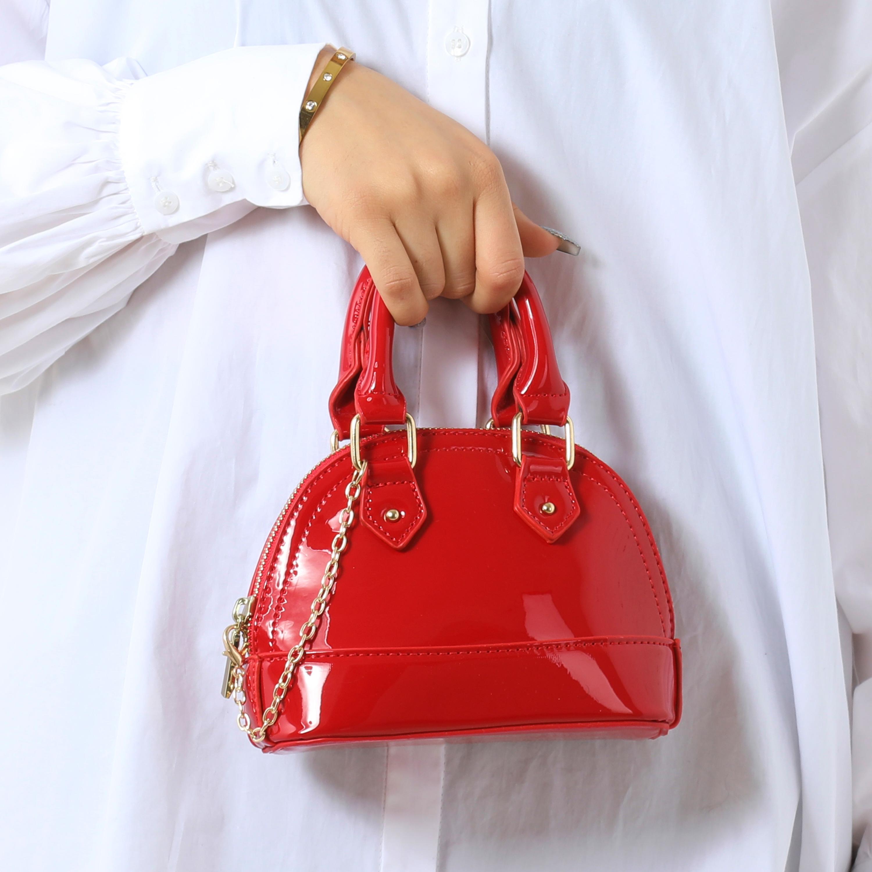 Grab Bag In Red Patent