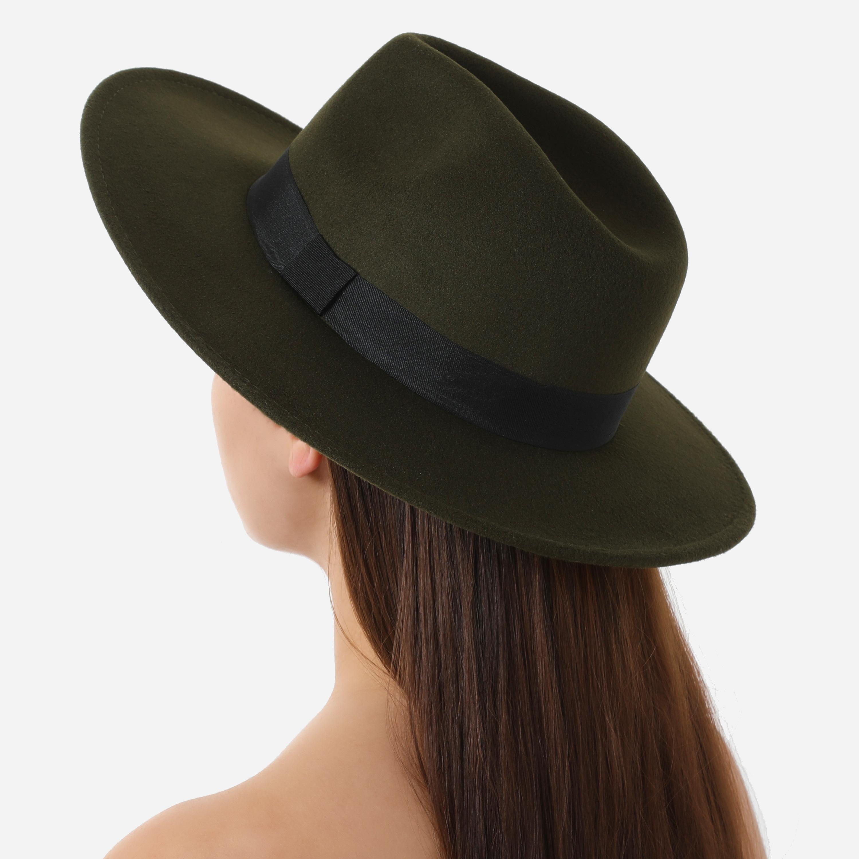 Fedora Hat In Khaki Felt