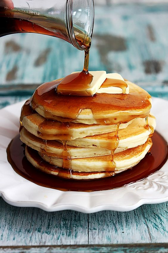 syrup pancakes with ego