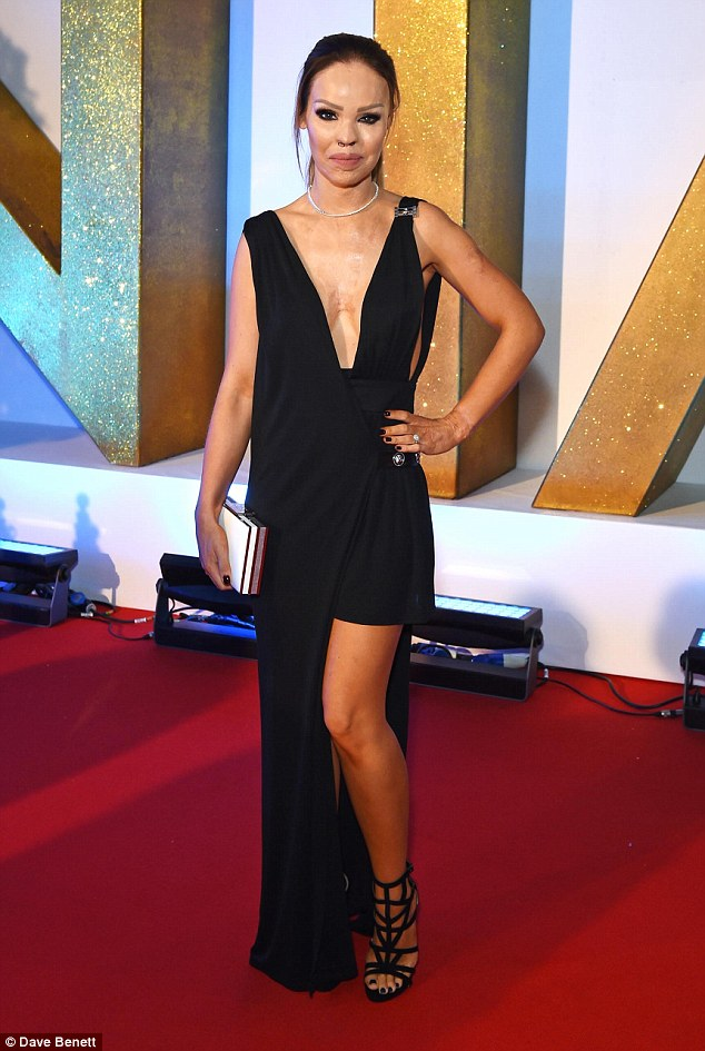 katie piper in the kyra ego heel at national television awards