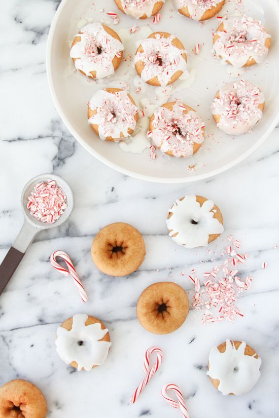 snow covered doughnuts