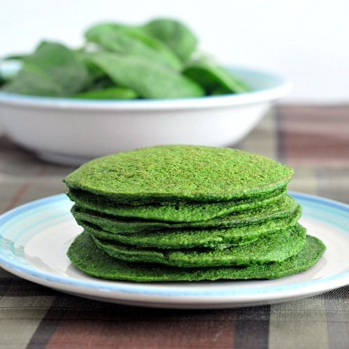 spinach pancakes with ego on pancake day