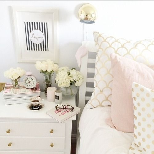 Relaxing in pretty beds
