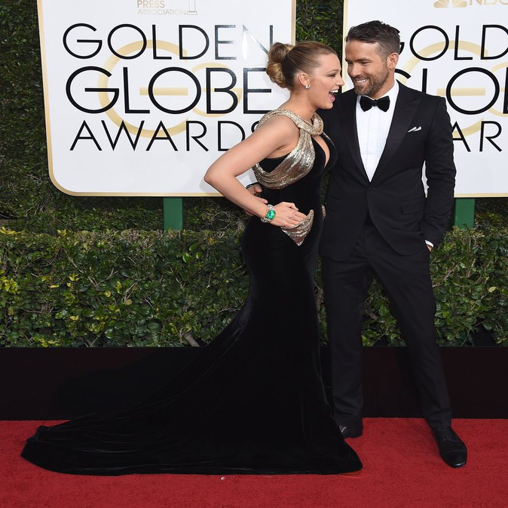 Blake Lively Ryan Reynolds Golden Globes 2017
