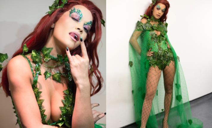 Rita Ora Halloween 2017 Poison Ivy Kiss House Party