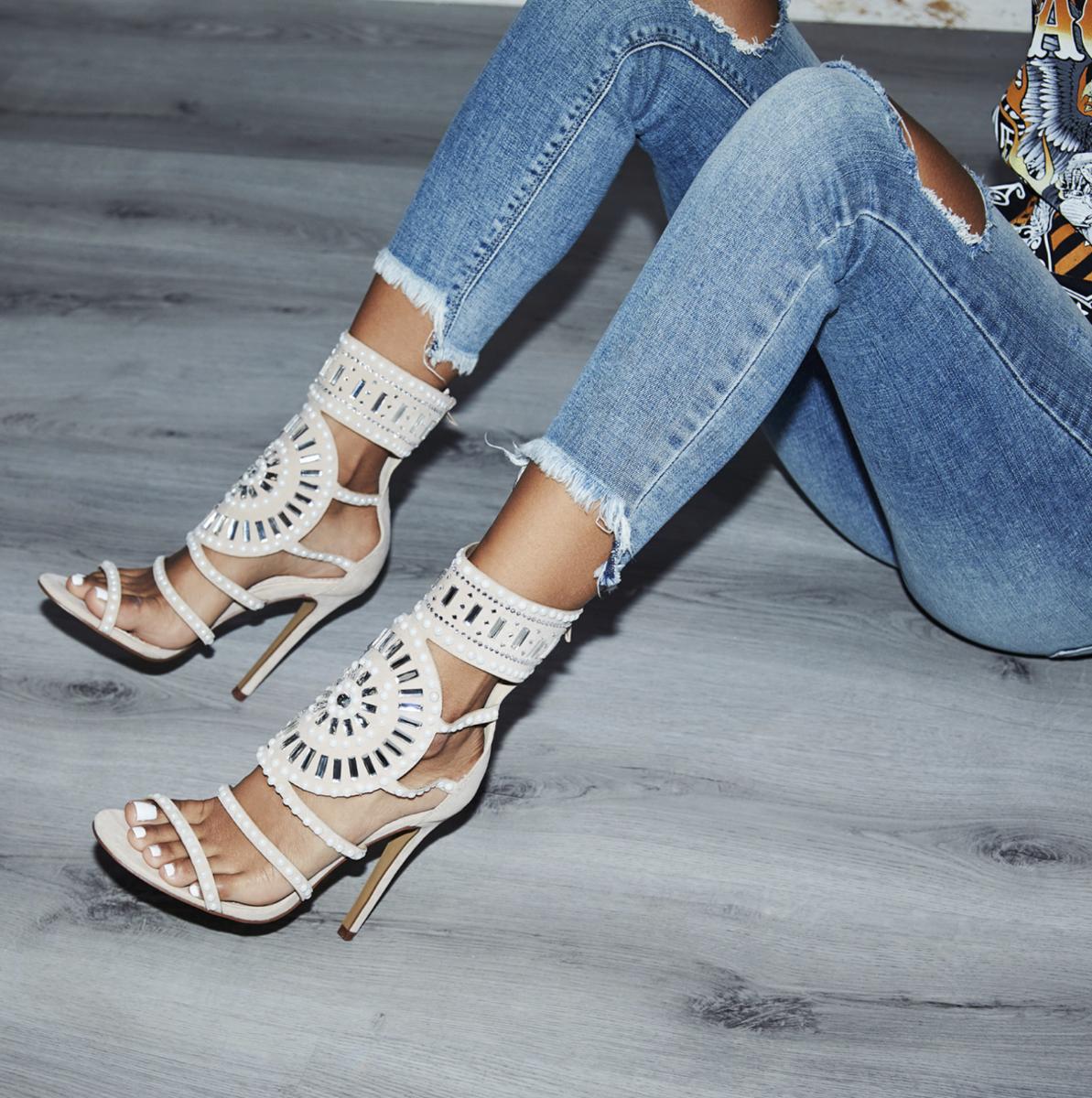 Solange Embellished Heel