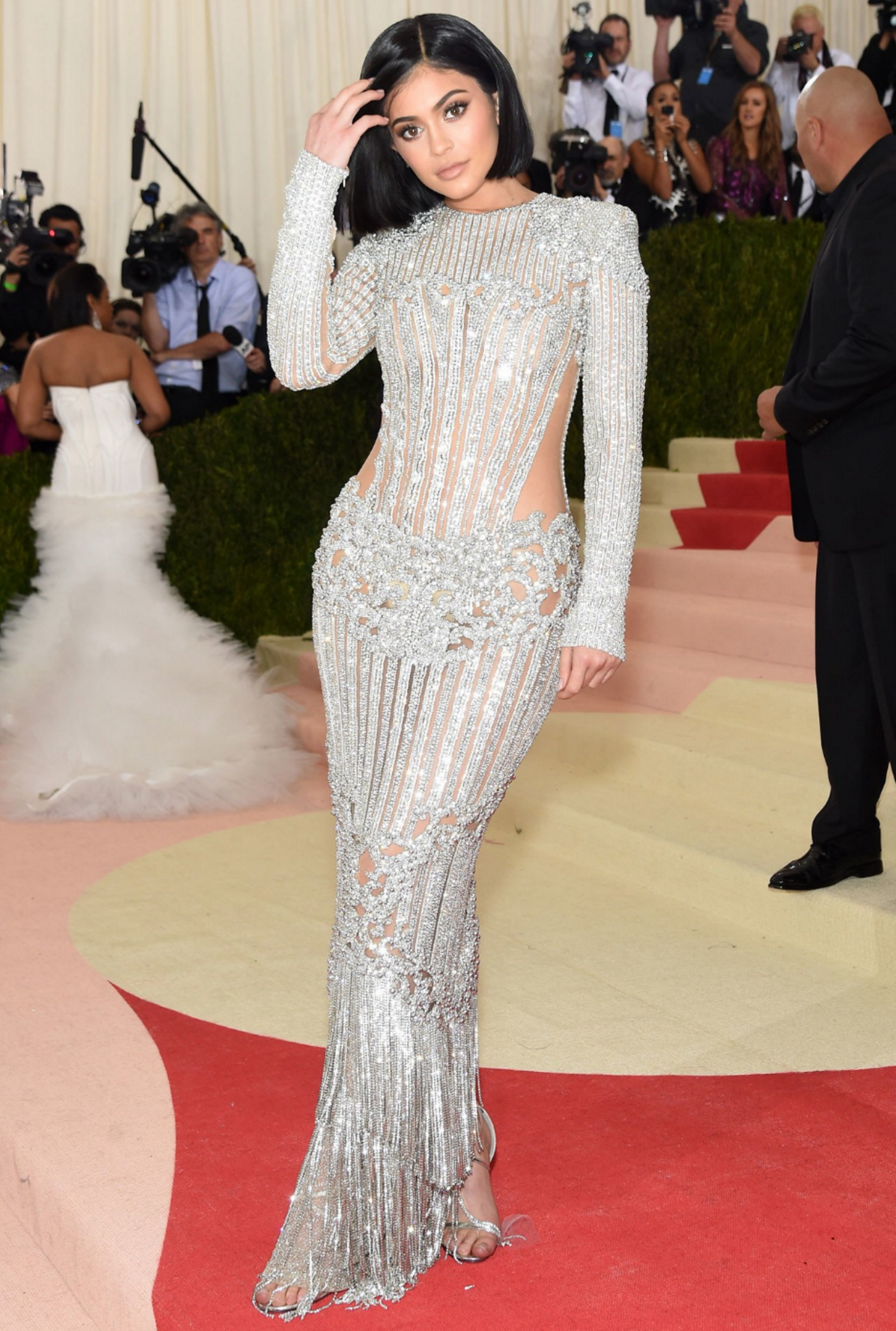 Kylie Jenner Met Ball 2016 Balmain