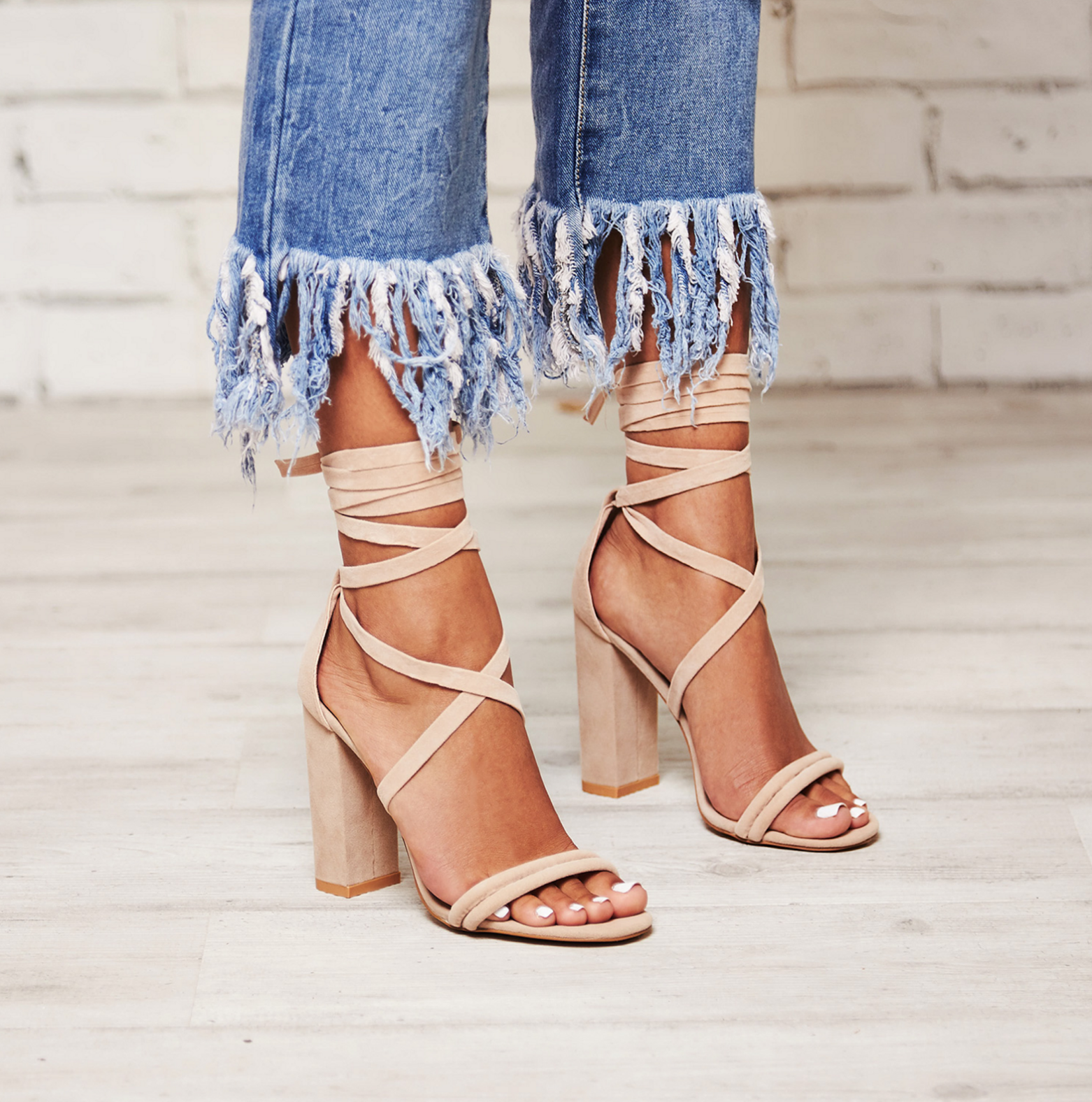 Aldo Lace Up Block Heel