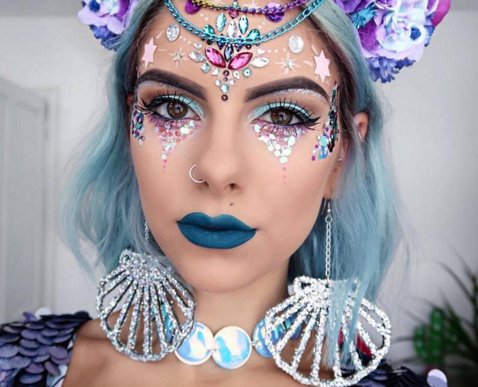 Sophie Hannah Richardson Festival Mermaid Makeup