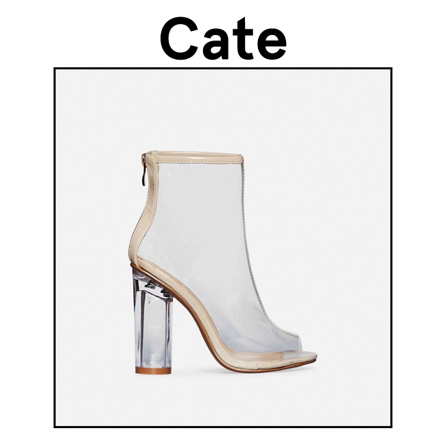 5e659590dc While Kylie goes for a statement heel, Kendall opts for perspex ankle boot  with edgy fishnet ankle boots. You can shop this look by searching for our  'Cate' ...