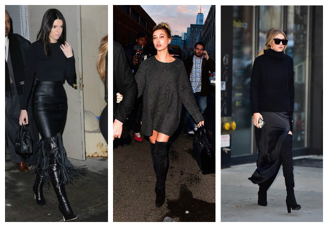 The SuperModel Pack wearing over the knee boots. Wear the EGO Parker boots to fit bang on trend like them
