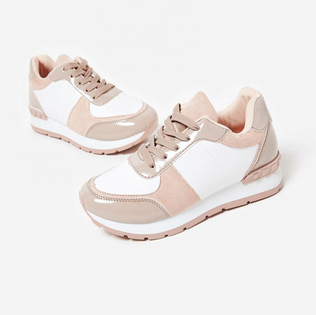 1c86af0a5d5 You can keep you casual style an  OOTD looking perfect in pink in our Pero  trainers. These sneaks will be your new SS18 fave and will see you though  Summer