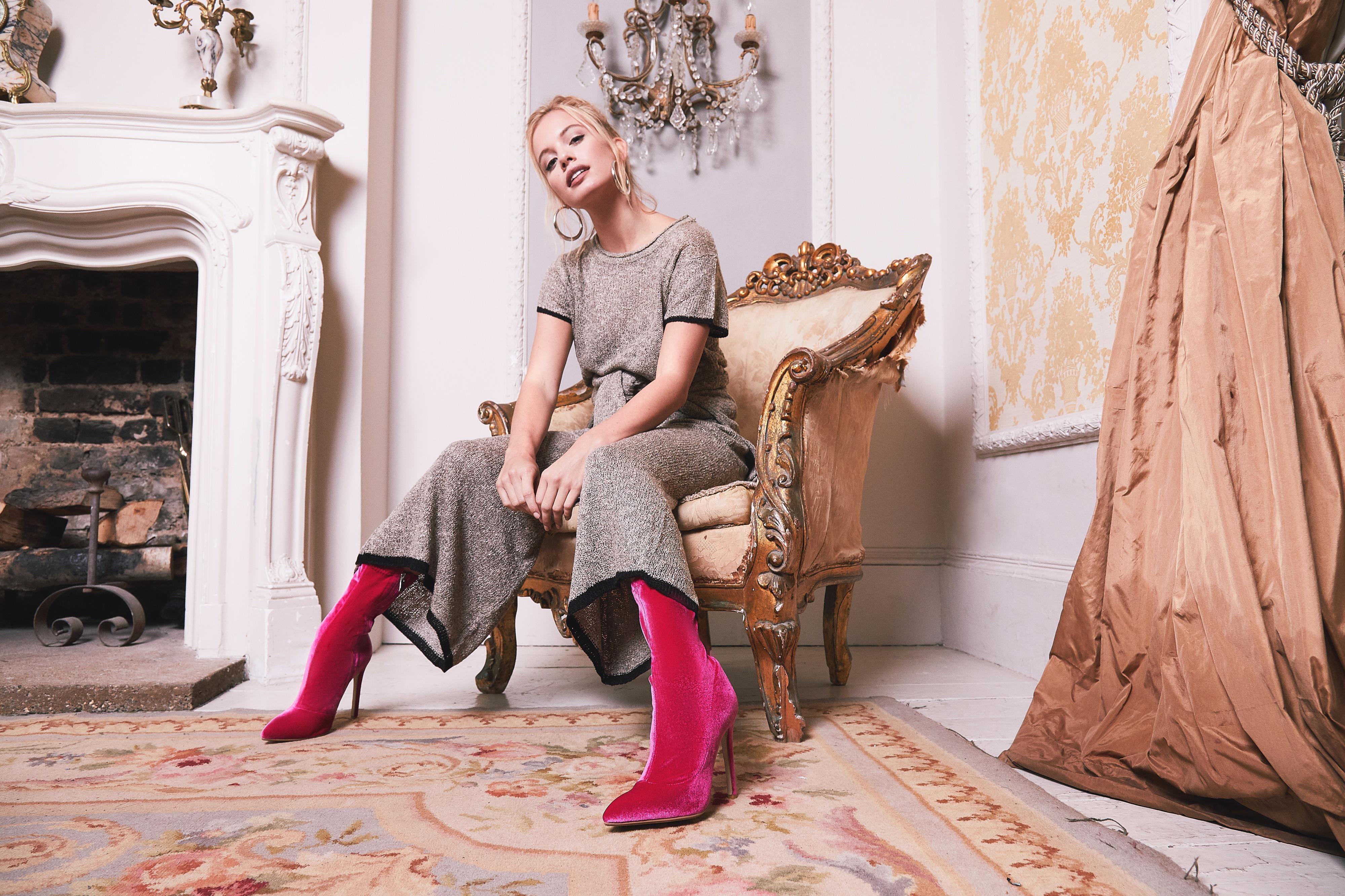 Elouise Velvet Ankle Boot AW