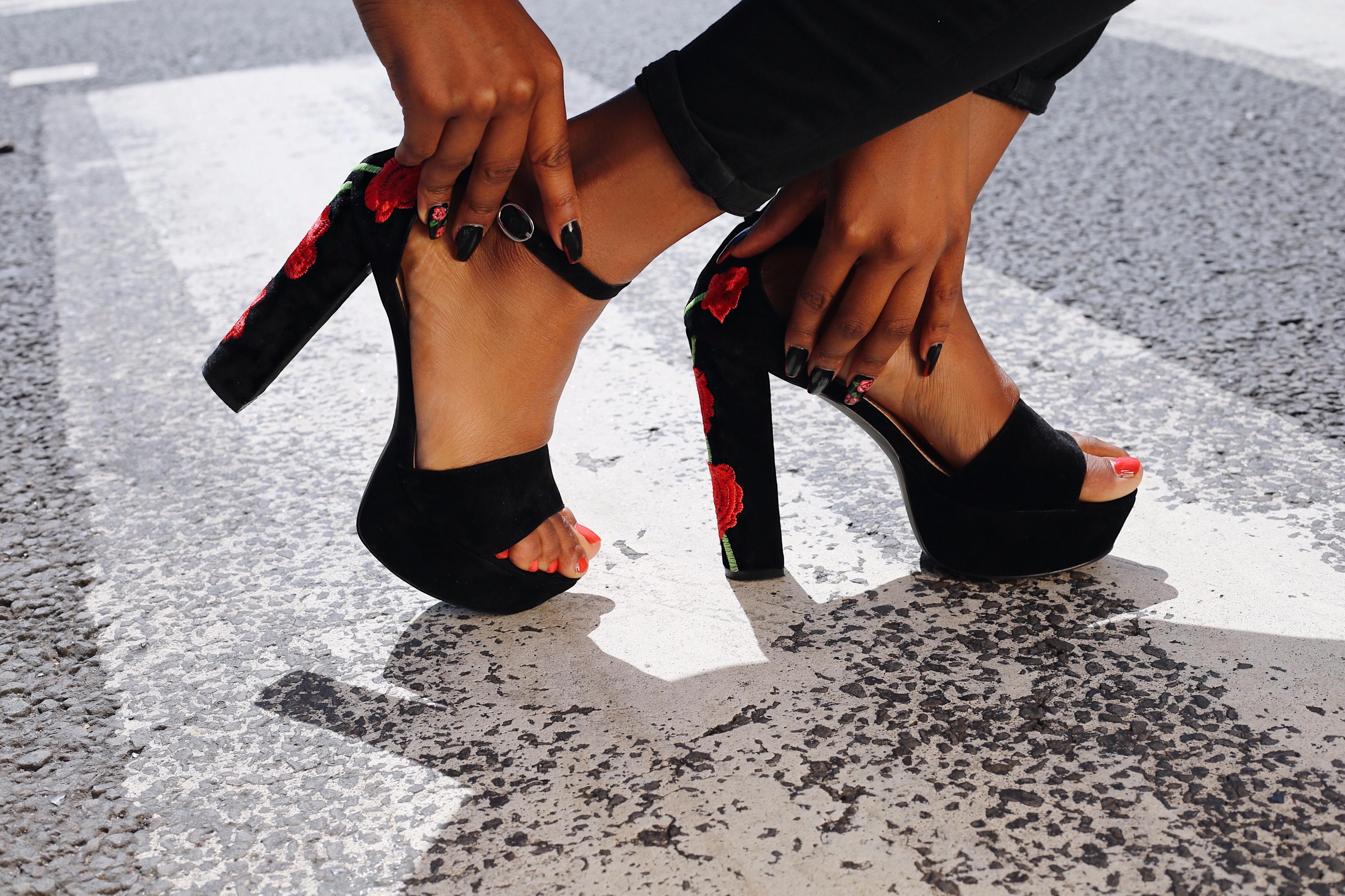 Taya Floral Platform Heel