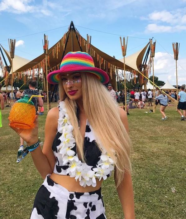 An image of Lulutrixabelle and her festival makeup