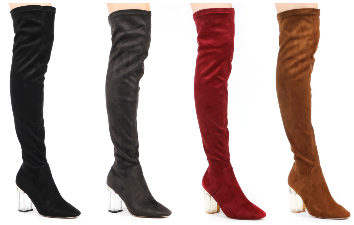 The Suede Parker Over The Knee Boot