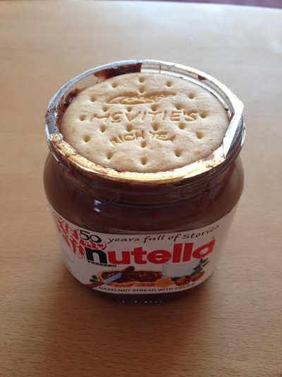rich tea dippin' and nutella